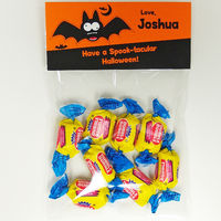 Crazy Bat Orange Candy Bag Toppers