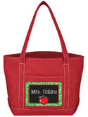 Apple Chalkboard Teacher Tote