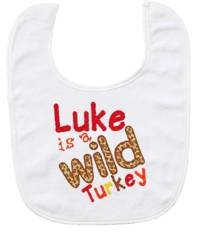 Wild Turkey Embroidered Bib