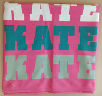 Name In Bright Girl Pink Beach Towel