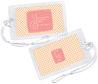 Citrus Triangles Luggage Tag