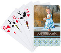 Blue Diamonds Playing Cards