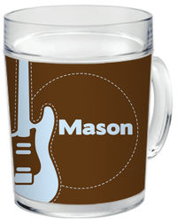 Guitar Blue Clear Acrylic Mug