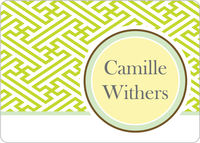 Geometric Pattern Calling Card