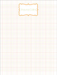 Spring Lines Large Notepad