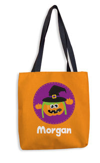 Pumpkin Witch Orange Treat Bag