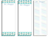 Chevron Pencil Blue Skinny Pad Set