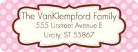Chocolate Pink Frame Return Address Label