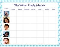 Custom Photo Weekly Schedule Pad