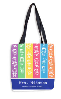 Colorful Kids Tote Bag