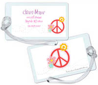 Polka Dot Peace Luggage Tag