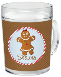 Gingerbread Clear Acrylic Mug Girl