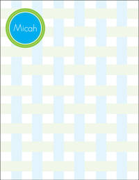 Blue Green Striped Large Notepad