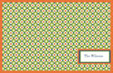 Green Squares Paper Placemats