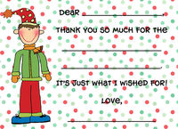 Christmas Dots Fill-in Flat Note Card