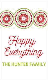 Happy Everything Holiday Gift Sticker