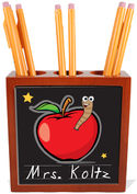 Apple for Teacher Pencil and Pen Holder