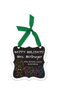 Chalkboard Kids Acrylic Ornament