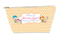 Drawn Chevron Kids Small Gusseted Pouch