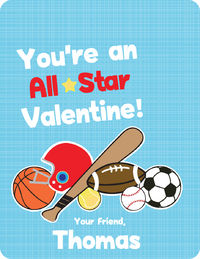 Just Sporty Valentines Card