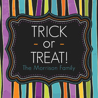 Halloween Stripes Gift Stickers
