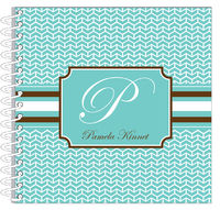 Broken Teal Chevron Journal | Notebook