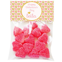 Golden Heart Valentine Candy Bag Toppers