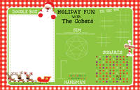 Gingham Santa Games Paper Placemats