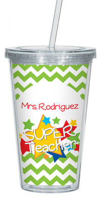 Stellar Teacher Clear Acrylic Tumbler