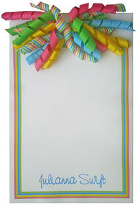 Bright Stripes Korker Notepad