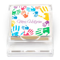 Colorful Hands Sticky Note Holder