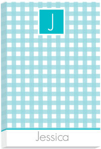 Turquoise Gingham Pad