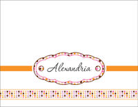 Circles and Squares Citrus Foldover Card