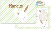 Bunny Face Brown Dry Erase Placemat