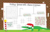 Merry Gator Games Paper Placemats