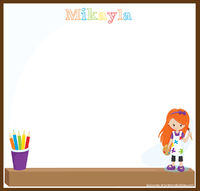 Young Artist Girl Art Writing Board