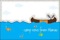 Camp Canoe Postcard