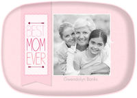 Best Mom Banner Photo Platter