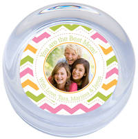 Colorful Chevron Photo Paperweight