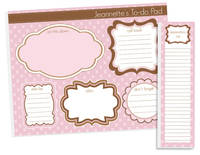 Chocolate Pink To Do Pad Set