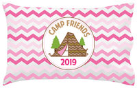 Tent Ready Pink UNPERSONALIZED Pillowcase