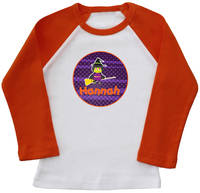 Broomstick Witch Ringer Printed Tee