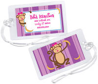 Monkey Business Girl Luggage Tag