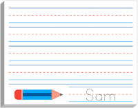 Blue Pencil Writing Pad