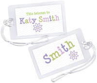 Lilac Flower Luggage Tag