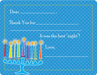 Abstract Menorah Fill-in Card