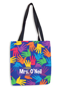 Bright Handprints Tote Bag