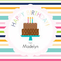 Birthday Girl Cake Gift Stickers