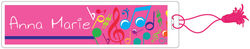 Bright Notes Fuchsia Bookmark