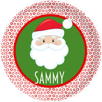 Dotted Santa Plate